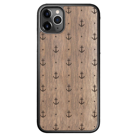 Wooden Case for iPhone 11 Pro Max Anchor