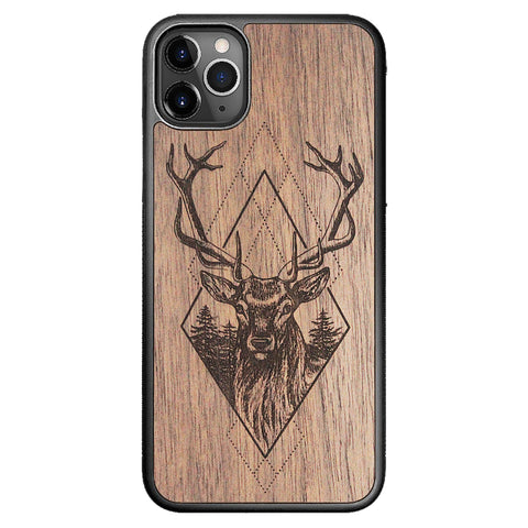 Wooden Case for iPhone 11 Pro Max Deer