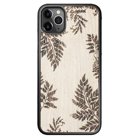 Wooden Case for iPhone 11 Pro Max Fern