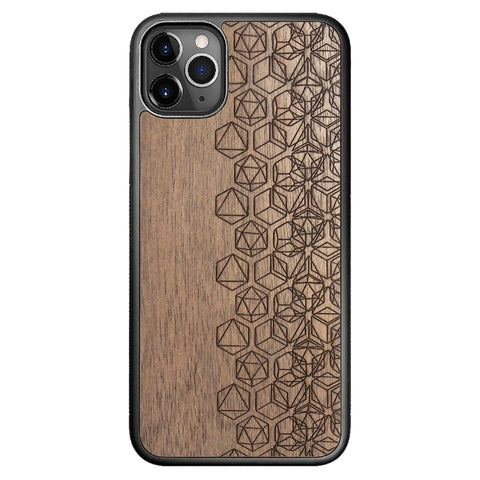 Wooden Case for iPhone 11 Pro Max Geometry