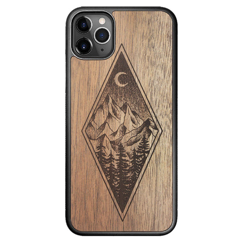 Wooden Case for iPhone 11 Pro Max Mountain Night