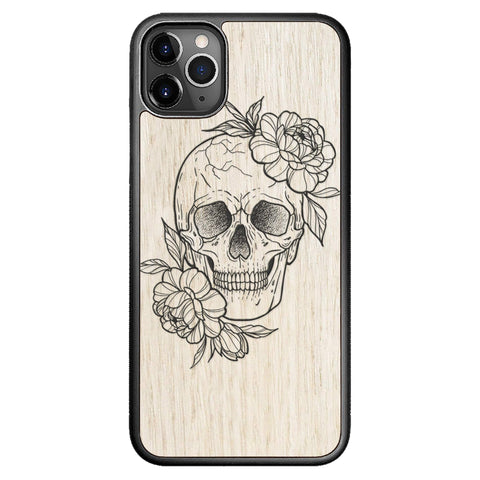 Wooden Case for iPhone 11 Pro Max Skull