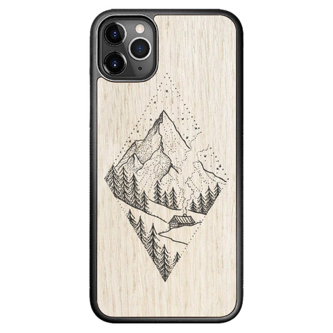Wooden Case for iPhone 11 Pro Max Winter Mountains