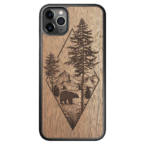 Wooden Case for iPhone 11 Pro Max Woodland Bear