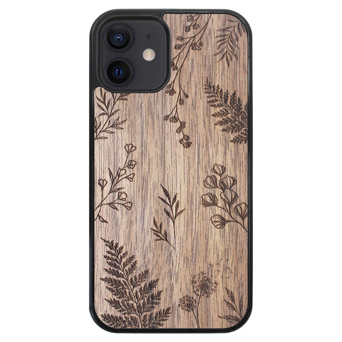 Wooden Case for iPhone 12 Botanical
