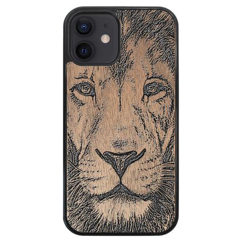 Wooden Case for iPhone 12 Lion