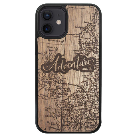 Wooden Case for iPhone 12 Mini Adventure Awaits
