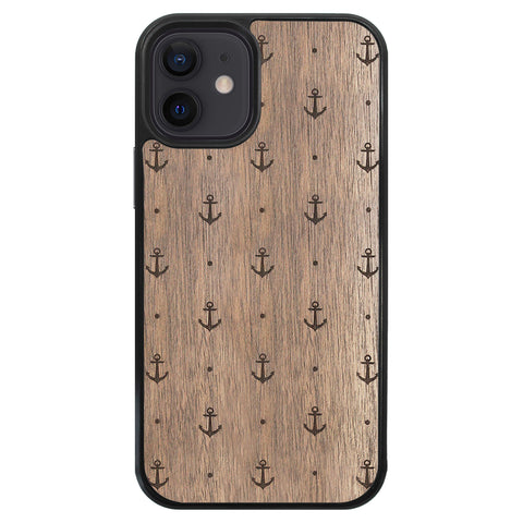 Wooden Case for iPhone 12 Mini Anchor