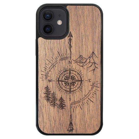 Wooden Case for iPhone 12 Mini Go Your Own Way