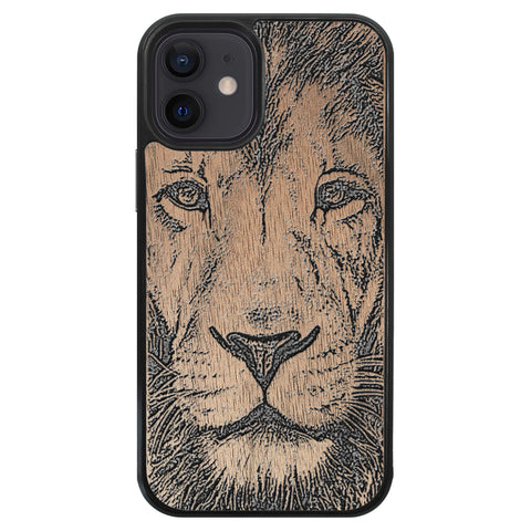 Wooden Case for iPhone 12 Mini Lion