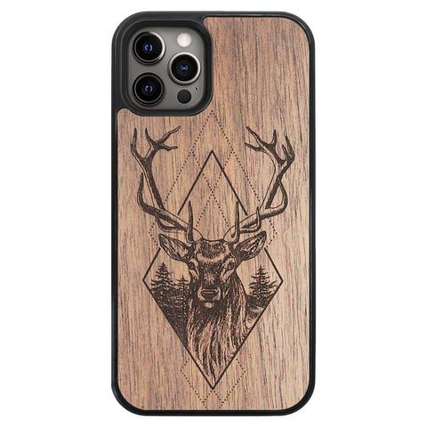 Wooden Case for iPhone 12 Pro Deer