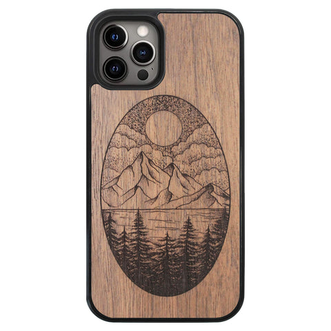Wooden Case for iPhone 12 Pro Landscape
