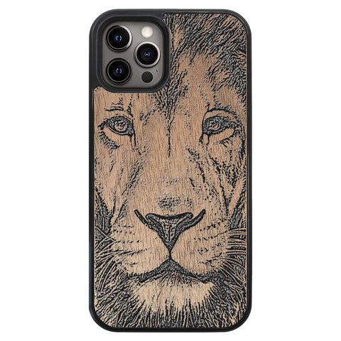 Wooden Case for iPhone 12 Pro Lion