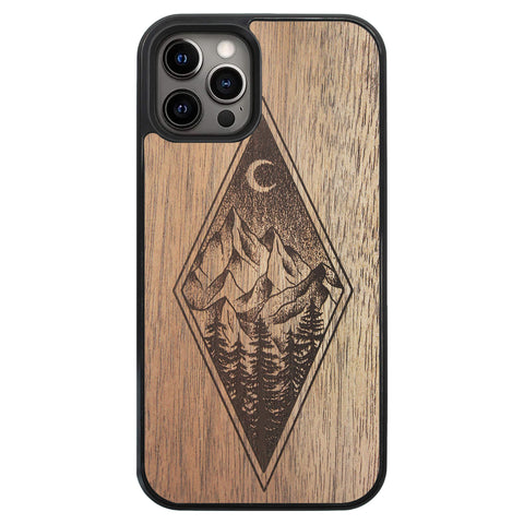 Wooden Case for iPhone 12 Pro Mountain Night