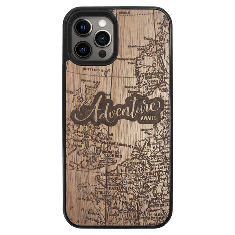 Wooden Case for iPhone 12 Pro Max Adventure Awaits