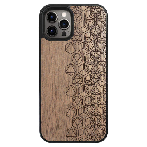 Wooden Case for iPhone 12 Pro Max Geometry
