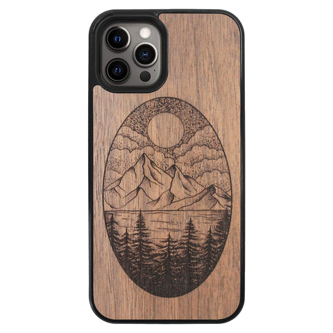Wooden Case for iPhone 12 Pro Max Landscape