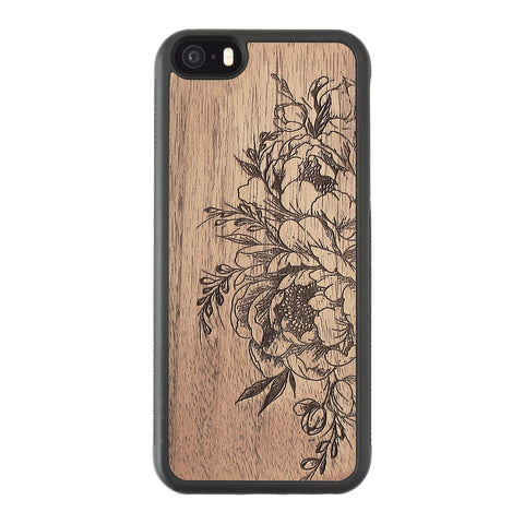 Wooden Case for iPhone 5/5S Flowers