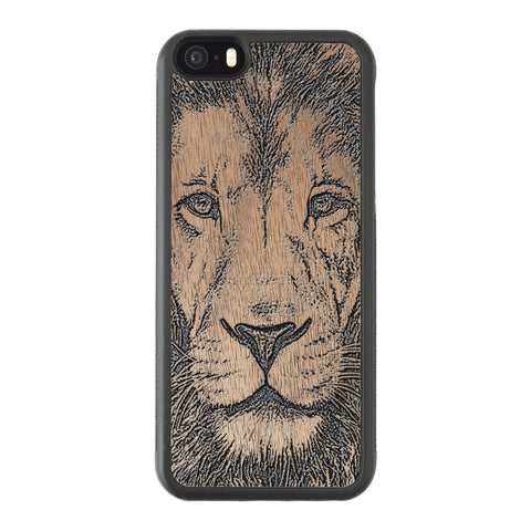 Wooden Case for iPhone 5/5S Lion face