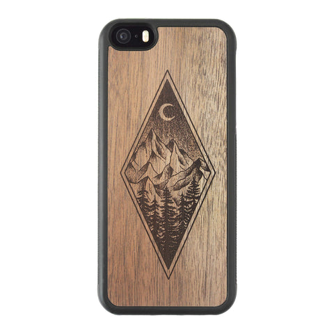 Wooden Case for iPhone 5/5S Mountain Night