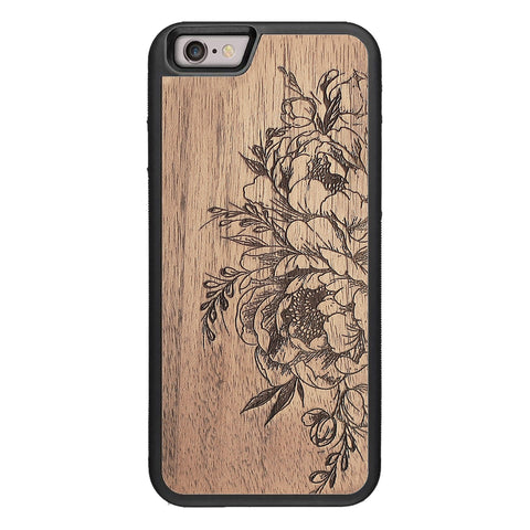 Wooden Case for iPhone 6/6S Flowers