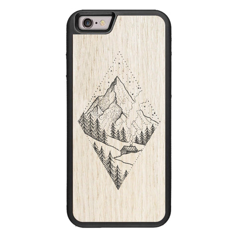 Wooden Case for iPhone 6/6S Winter Mountains