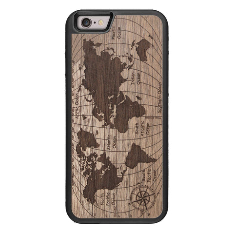Wooden Case for iPhone 6/6S World Map