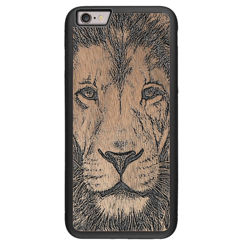 Wooden Case for iPhone 6/6S Plus Lion face