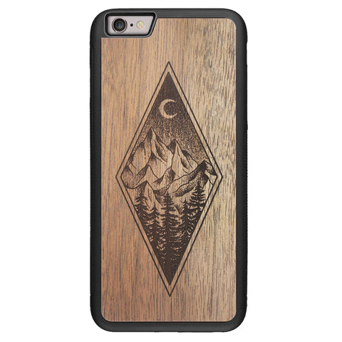 Wooden Case for iPhone 6/6S Plus Mountain Night
