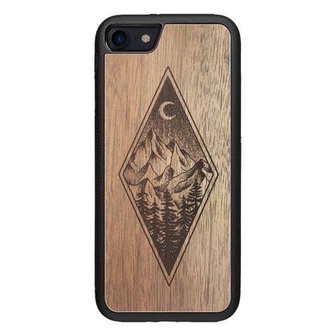 Wooden Case for iPhone 7 Mountain Night