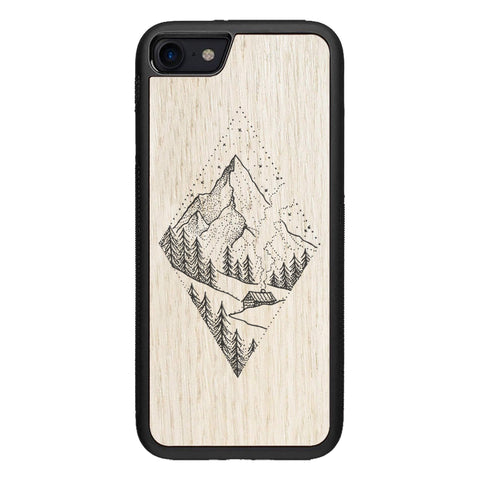 Wooden Case for iPhone 7 Winter Mountains
