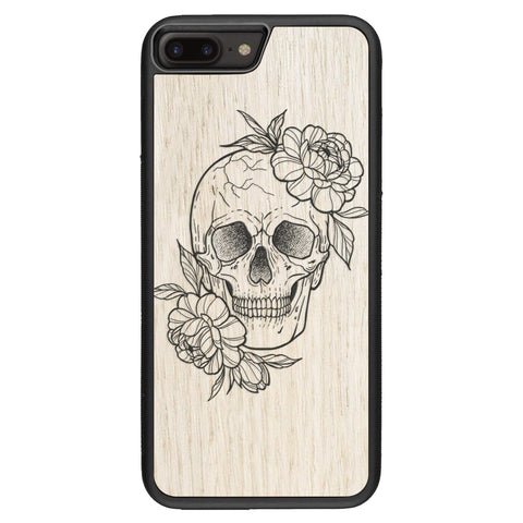 Wooden Case for iPhone 7 Plus Skull