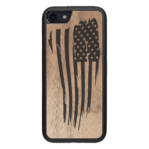 Wooden Case for iPhone 8 American Flag