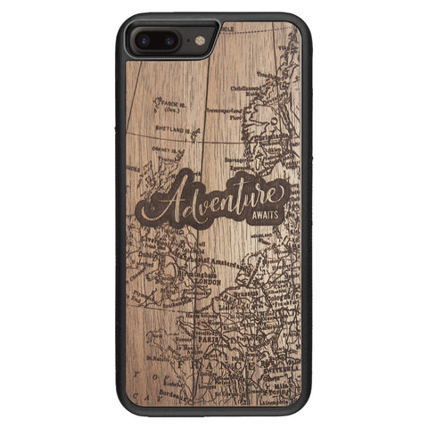 Wooden Case for iPhone 8 Plus Adventure Awaits