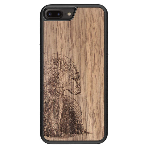 Wooden Case for iPhone 8 Plus Bear