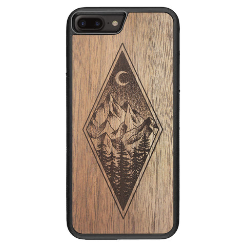 Wooden Case for iPhone 8 Plus Mountain Night