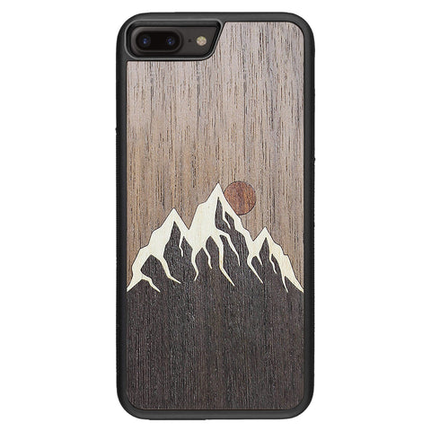 Wooden Case for iPhone 8 Plus Mountain