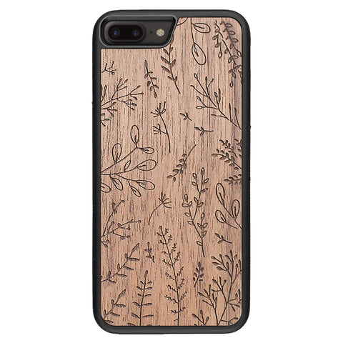 Wooden Case for iPhone 8 Plus Plants