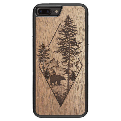 Wooden Case for iPhone 8 Plus Woodland Bear