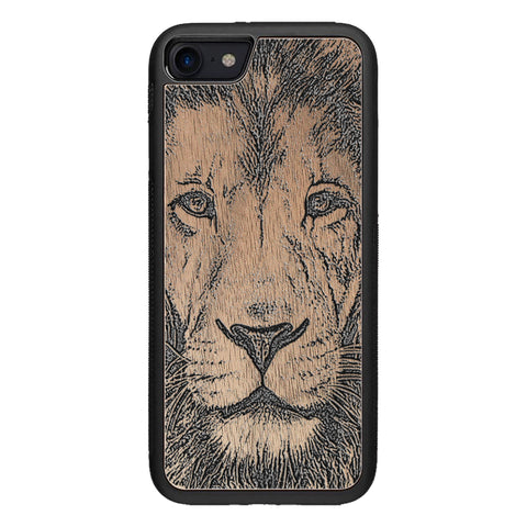 Wood Case for iPhone SE 2 generation case Lion