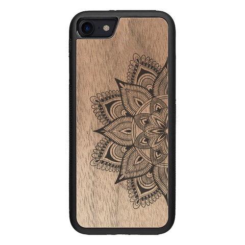 Wooden Case for iPhone SE 2 generation case Mandala