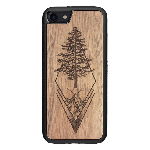 Wooden Case for iPhone SE 2 generation case Picea
