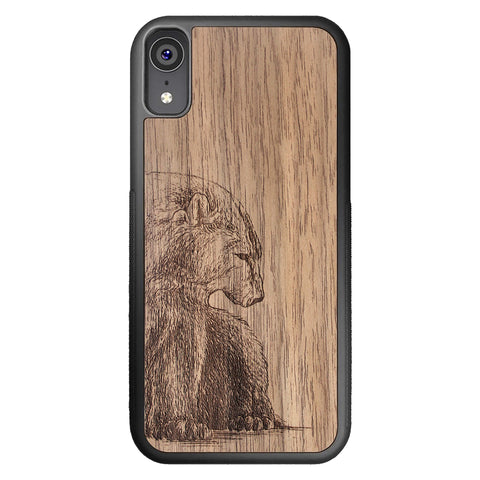 Wooden Case for iPhone XR Bear