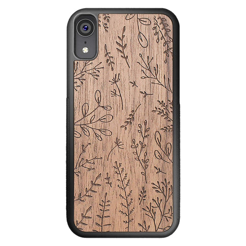 Wooden Case for iPhone XR Plants