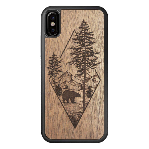 Wooden Case for iPhone XS/X Woodland Bear