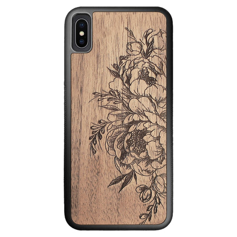 Wooden Case for iPhone XS Max Flowers
