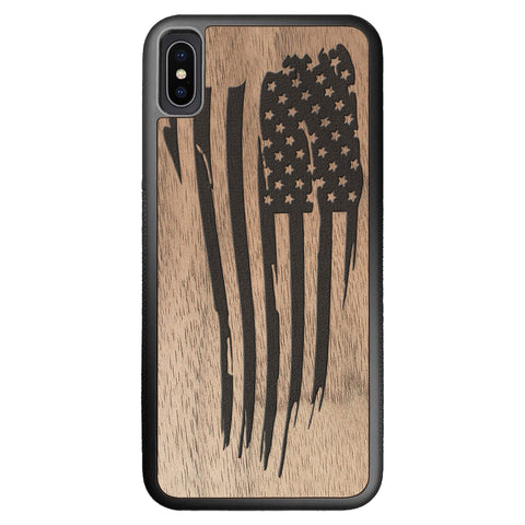Wooden Case for iPhone XS Max American Flag
