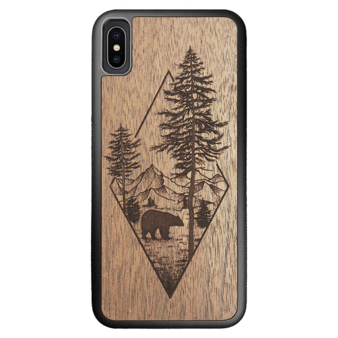 Wooden Case for iPhone XS Max Woodland Bear