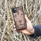 Wood iPhone Case 5/5S Lion face