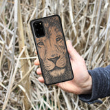 Wooden Galaxy S8 Case Lion face
